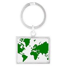 world_map Landscape Keychain