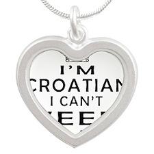 I Am Croatian I Can Not Keep Calm Silver Heart Nec