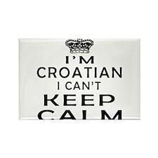 I Am Croatian I Can Not Keep Calm Rectangle Magnet