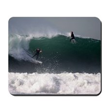 Surfing Riding the Wave Mousepad