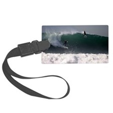 Surfing Riding the Wave Luggage Tag