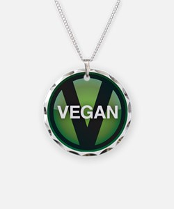 VeganButton Necklace