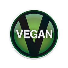 """VeganButton 3.5"""" Button"""