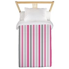 Valentine Stripes Twin Duvet