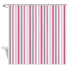 Valentine Stripes Shower Curtain