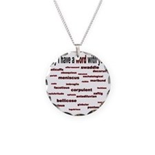words words words red2 Necklace