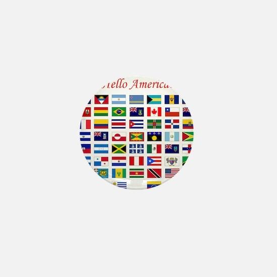 America flags pillow Mini Button