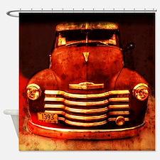 Vintage 1950 Chevy Truck Shower Curtain