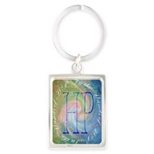 in the hands Portrait Keychain