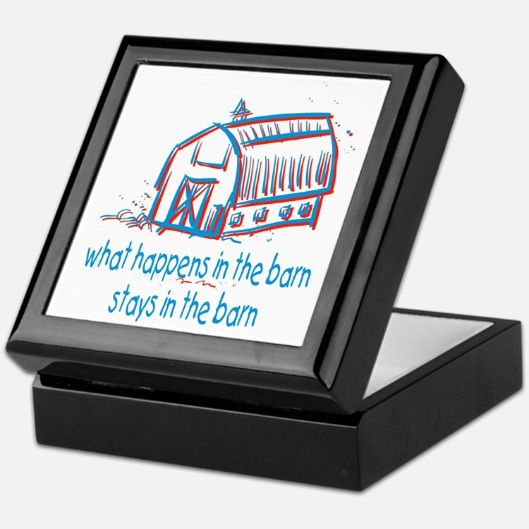 What happens in the barn Keepsake Box
