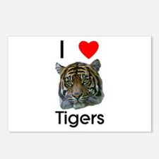 I Love Tigers Postcards (Package of 8)