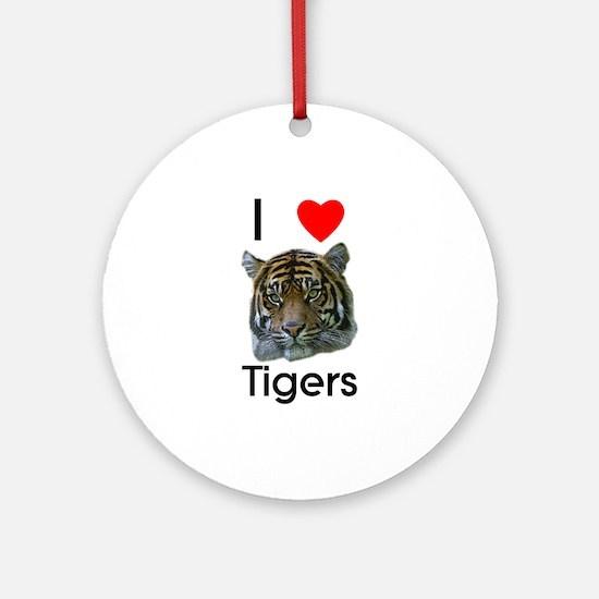 I Love Tigers Ornament (Round)