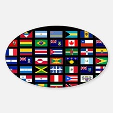 America flags mousepad Sticker (Oval)