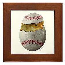 Baseball Chick Framed Tile