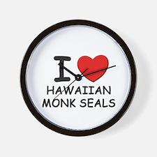 I love hawaiian monk seals Wall Clock
