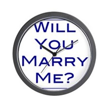 will-you-marry-me Wall Clock