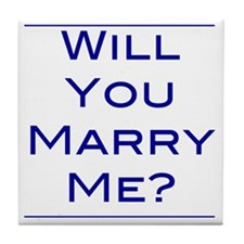 will-you-marry-me Tile Coaster