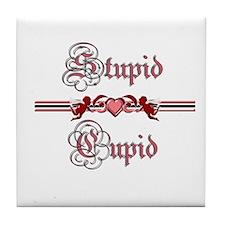 Stupid Cupid Tile Coaster