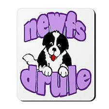 purple newf drool Mousepad