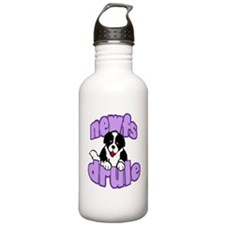 purple newf drool Water Bottle