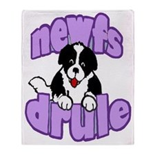 purple newf drool Throw Blanket