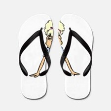 fa clause dark Flip Flops