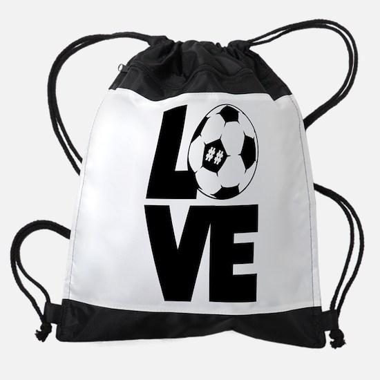 Soccer Love Drawstring Bag