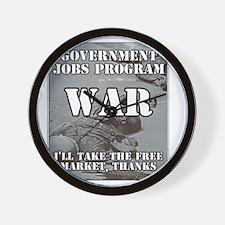 Government Jobs Program War Wall Clock