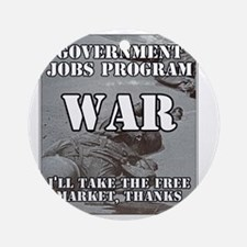 Government Jobs Program War Round Ornament