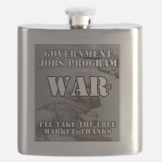Government Jobs Program War Flask