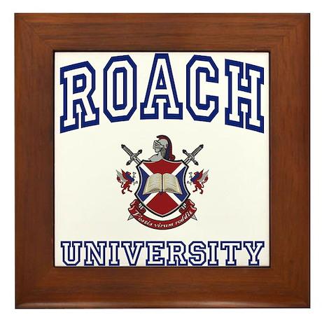 ROACH University Framed Tile