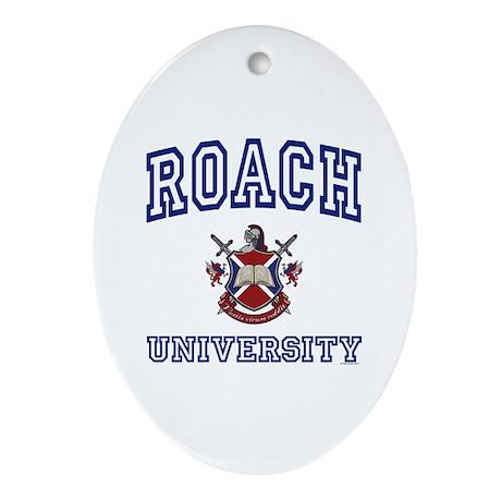 ROACH University Oval Ornament