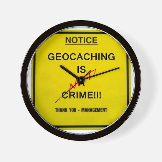 cache crime Wall Clock