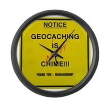 cache crime Large Wall Clock