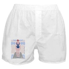 Girl on a diving board by Neel Muller Boxer Shorts