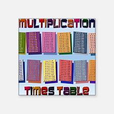 "Times Tables mpad Square Sticker 3"" x 3"""
