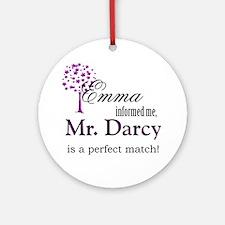 emma_mrdarcy Round Ornament