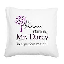 emma_mrdarcy Square Canvas Pillow