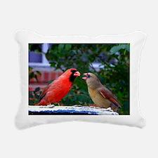 LoveBirdsLFP Rectangular Canvas Pillow