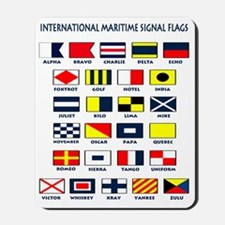 Maritime flags light tee Mousepad