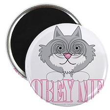 Obey-Me-Cat-blk Magnet