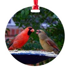 LoveBirdsCir Ornament