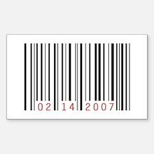 Valentine's Day Commercialism Sticker (Rectangular