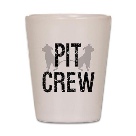 2-pit_crew_back_1 Shot Glass