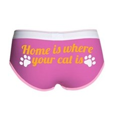 home is where your cat is_dark Women's Boy Brief