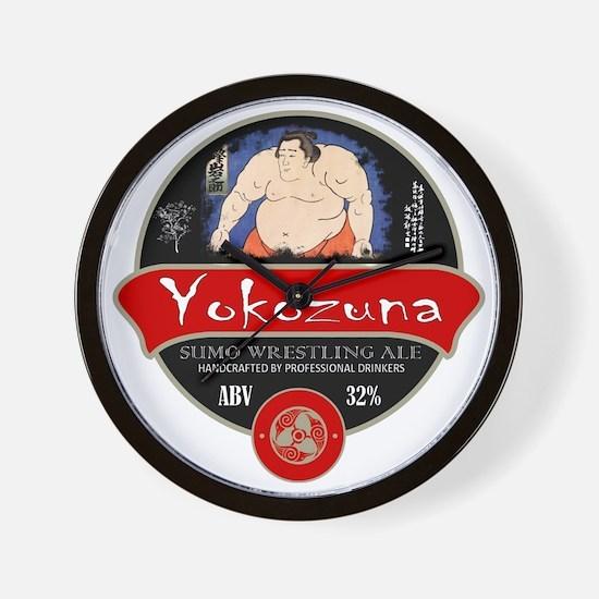 Yokozuna Sumo Beer Wall Clock