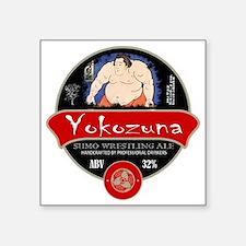 "Yokozuna Sumo Beer Square Sticker 3"" x 3"""