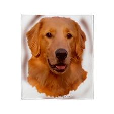 golden retriever portrait Throw Blanket