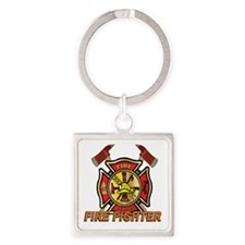 Maltese cross w Axes Square Keychain