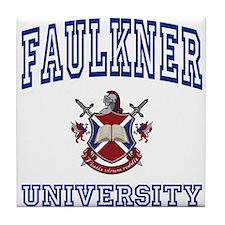 FAULKNER University Tile Coaster